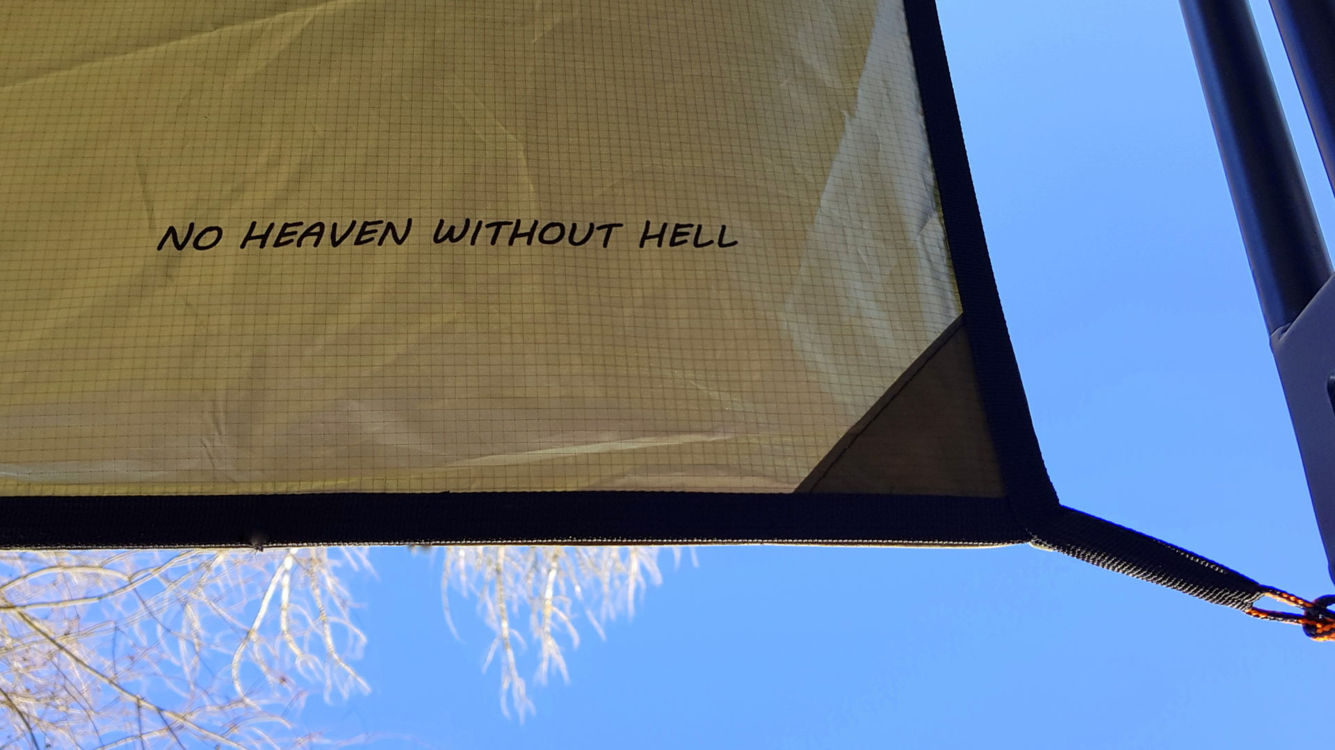 Thermo-tarp 4x4 - No Heaven without Hell