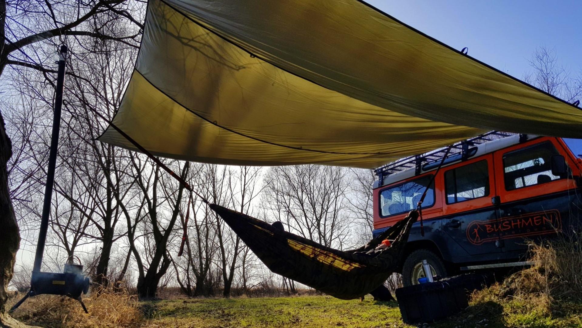 4x4 Thermo-tarp & hamak
